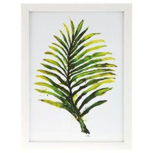 Watercolor Fern Leaf Framed Wall Decor Artwork